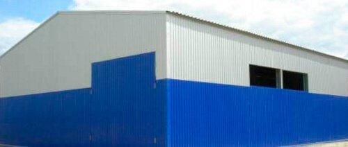 Профнастил НС-10 обшивка фасада склада